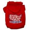 Mirage Pet Products God Bless USA Screen Print Pet Hoodies Red Size S (10)