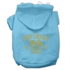 Mirage Pet Products Golden Christmas Present Pet Hoodies Baby Blue Size Sm (10)