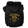 Mirage Pet Products Golden Christmas Present Pet Hoodies Black Size XS (8)