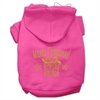 Mirage Pet Products Golden Christmas Present Pet Hoodies Bright Pink Size XS (8)