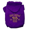 Mirage Pet Products Golden Christmas Present Pet Hoodies Purple Size XS (8)