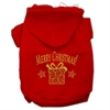 Mirage Pet Products Golden Christmas Present Pet Hoodies Red Size XS (8)