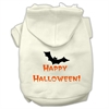Mirage Pet Products Happy Halloween Screen Print Pet Hoodies Cream Size S (10)
