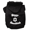 Mirage Pet Products Happy Hanukkah Screen Print Pet Hoodies Black Size XS (8)