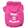 Mirage Pet Products Happy Hanukkah Screen Print Pet Hoodies Bright Pink Size Sm (10)