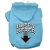 Mirage Pet Products Happy Meter Screen Printed Dog Pet Hoodies Baby Blue Size XL (16)