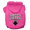 Mirage Pet Products Happy Meter Screen Printed Dog Pet Hoodies Bright Pink Size XS (8)