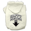 Mirage Pet Products Happy Meter Screen Printed Dog Pet Hoodies Cream Size XL (16)