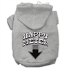 Mirage Pet Products Happy Meter Screen Printed Dog Pet Hoodies Grey Size XL (16)