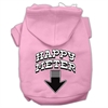 Mirage Pet Products Happy Meter Screen Printed Dog Pet Hoodies Light Pink Size Med (12)