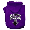Mirage Pet Products Happy Meter Screen Printed Dog Pet Hoodies Purple Size XS (8)