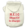 Mirage Pet Products Head Elf In Charge Screen Print Pet Hoodies Cream Size Sm (10)
