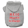 Mirage Pet Products Head Elf In Charge Screen Print Pet Hoodies Grey Size XXXL (20)