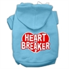 Mirage Pet Products Heart Breaker Screen Print Pet Hoodies Baby Blue Size Med (12)