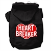 Mirage Pet Products Heart Breaker Screen Print Pet Hoodies Black Size XS (8)