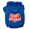 Mirage Pet Products Heart Breaker Screen Print Pet Hoodies Blue Size Sm (10)