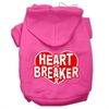 Mirage Pet Products Heart Breaker Screen Print Pet Hoodies Bright Pink Size Sm (10)