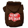 Mirage Pet Products Heart Breaker Screen Print Pet Hoodies Brown Size Sm (10)