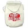 Mirage Pet Products Heart Breaker Screen Print Pet Hoodies Cream Size XL (16)