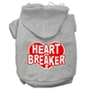 Mirage Pet Products Heart Breaker Screen Print Pet Hoodies Grey Size XXXL (20)
