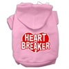 Mirage Pet Products Heart Breaker Screen Print Pet Hoodies Light Pink Size Med (12)