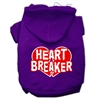 Mirage Pet Products Heart Breaker Screen Print Pet Hoodies Purple Size Med (12)