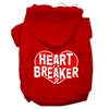 Mirage Pet Products Heart Breaker Screen Print Pet Hoodies Red Size Sm (10)