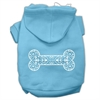 Mirage Pet Products Henna Bone Screen Print Pet Hoodies Baby Blue Size Med (12)