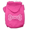 Mirage Pet Products Henna Bone Screen Print Pet Hoodies Bright Pink Size Sm (10)
