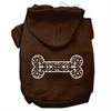 Mirage Pet Products Henna Bone Screen Print Pet Hoodies Brown Size XL (16)