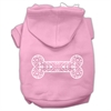 Mirage Pet Products Henna Bone Screen Print Pet Hoodies Light Pink Size Med (12)