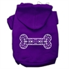 Mirage Pet Products Henna Bone Screen Print Pet Hoodies Purple Size Sm (10)