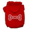 Mirage Pet Products Henna Bone Screen Print Pet Hoodies Red Size XL (16)