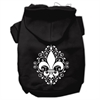 Mirage Pet Products Henna Fleur De Lis Screen Print Pet Hoodies Black Size XS (8)
