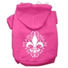 Mirage Pet Products Henna Fleur De Lis Screen Print Pet Hoodies Bright Pink Size Sm (10)