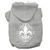 Mirage Pet Products Henna Fleur De Lis Screen Print Pet Hoodies Grey Size XL (16)