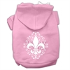 Mirage Pet Products Henna Fleur De Lis Screen Print Pet Hoodies Light Pink Size XL (16)