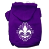 Mirage Pet Products Henna Fleur De Lis Screen Print Pet Hoodies Purple Size XXXL (20)