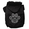 Mirage Pet Products Henna Paw Screen Print Pet Hoodies Black Size XS (8)