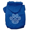 Mirage Pet Products Henna Paw Screen Print Pet Hoodies Blue Size XS (8)