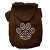 Mirage Pet Products Henna Paw Screen Print Pet Hoodies Brown Size Med (12)