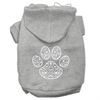 Mirage Pet Products Henna Paw Screen Print Pet Hoodies Grey Size XL (16)