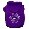 Mirage Pet Products Henna Paw Screen Print Pet Hoodies Purple Size Sm (10)