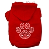 Mirage Pet Products Henna Paw Screen Print Pet Hoodies Red Size Sm (10)