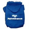 Mirage Pet Products High Maintenance Screen Print Pet Hoodies Blue XXXL(20)
