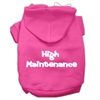Mirage Pet Products High Maintenance Screen Print Pet Hoodies Bright Pink Size S (10)
