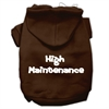 Mirage Pet Products High Maintenance Screen Print Pet Hoodies Brown XXXL(20)