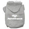 Mirage Pet Products High Maintenance Screen Print Pet Hoodies Grey XXXL(20)