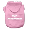 Mirage Pet Products High Maintenance Screen Print Pet Hoodies Light Pink M (12)