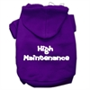 Mirage Pet Products High Maintenance Screen Print Pet Hoodies Purple Size S (10)